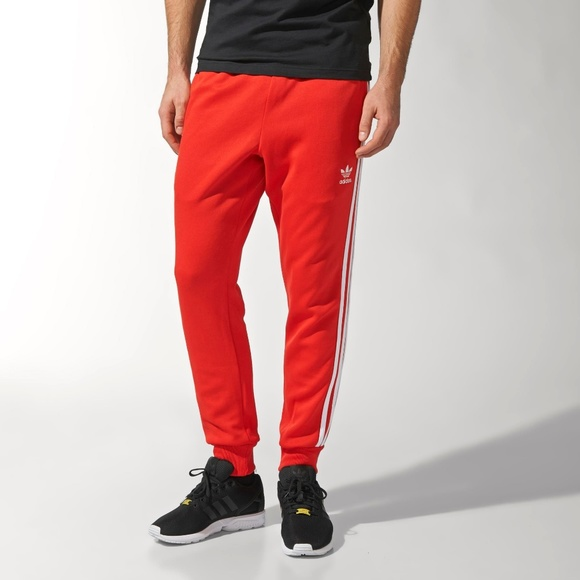 uk availability c7ad3 baff2 adidas Other - Adidas Superstar Cuffed Track Red Pants AA0160